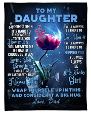 To My Daughter From DAD -Dragonfly Fleece Blanket tile
