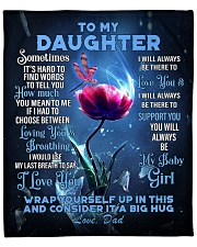 """To My Daughter From DAD -Dragonfly Fleece Blanket - 50"""" x 60"""" front"""