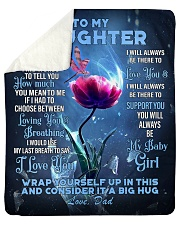 """To My Daughter From DAD -Dragonfly Sherpa Fleece Blanket - 50"""" x 60"""" thumbnail"""