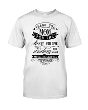 Thank you mom Classic T-Shirt front
