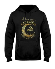 I Love My Railroader to the Moon and Back Hooded Sweatshirt front