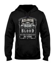 M-E-L-A-N-C-O-N Awesome Hooded Sweatshirt front