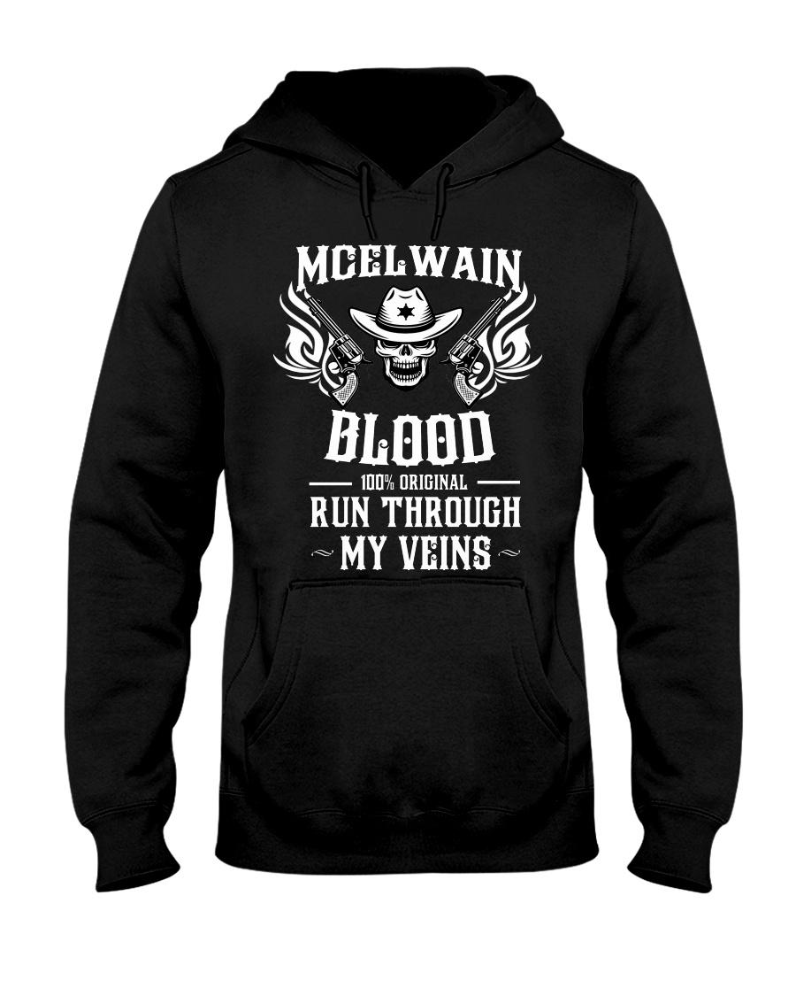 M-C-E-L-W-A-I-N Awesome Hooded Sweatshirt