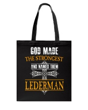 L-E-D-E-R-M-A-N Awesome Tote Bag thumbnail
