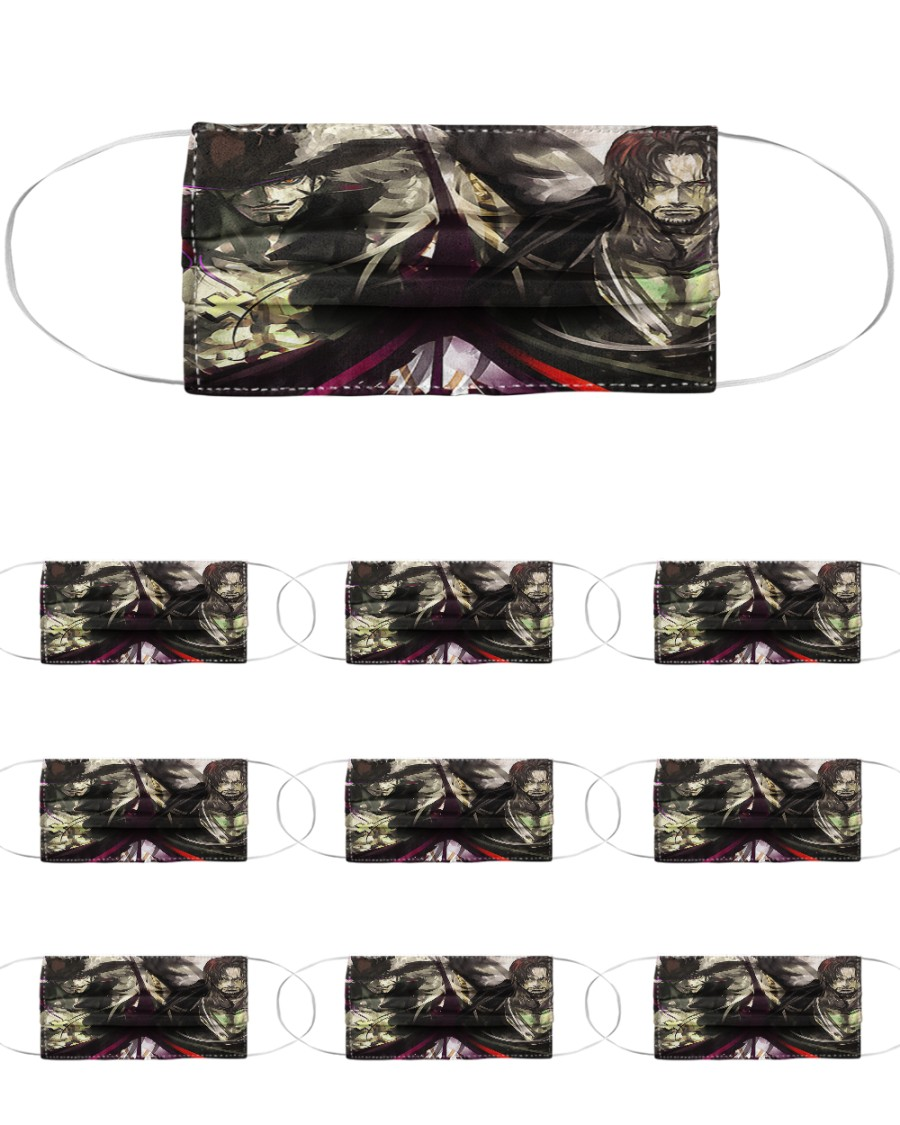 ONE PIECE MIHAWK SHANKS LIMITED Cloth Face Mask - 10 Pack
