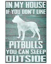 Pitbull dog funny 11x17 Poster front