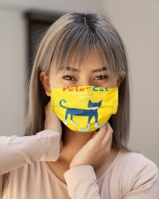 Pete the cat i love my white mask face mask Cloth face mask aos-face-mask-lifestyle-18
