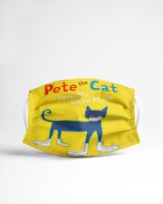 Pete the cat i love my white mask face mask Cloth face mask aos-face-mask-lifestyle-22