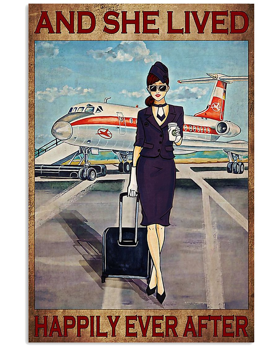 Flight Attendant And She Lived Happily poster 3 11x17 Poster