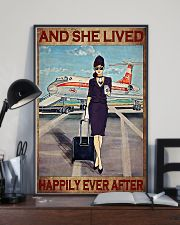 Flight Attendant And She Lived Happily poster 3 11x17 Poster lifestyle-poster-2