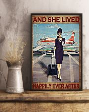 Flight Attendant And She Lived Happily poster 3 11x17 Poster lifestyle-poster-3