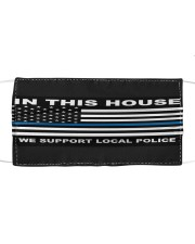 In this house we support local police yard sign Cloth face mask thumbnail