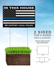 In this house we support local police yard sign 18x12 Yard Sign aos-yard-sign-18x12-lifestyle-front-26