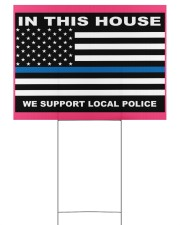 In this house we support local police yard sign Yard Signs tile