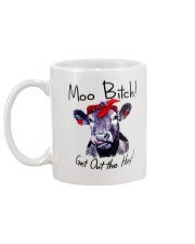 Moo Bitch Get Out the Hay Cow Heifer mug Mug back