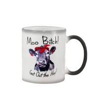Moo Bitch Get Out the Hay Cow Heifer mug Color Changing Mug thumbnail