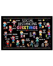 Classroom social distancing greetings 6ft poster 17x11 Poster front