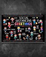 Classroom social distancing greetings 6ft poster 17x11 Poster poster-landscape-17x11-lifestyle-12