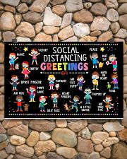 Classroom social distancing greetings 6ft poster 17x11 Poster poster-landscape-17x11-lifestyle-15