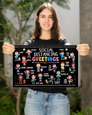 Classroom social distancing greetings 6ft poster 17x11 Poster poster-landscape-17x11-lifestyle-19