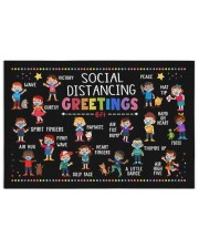 Classroom social distancing greetings 6ft poster 250 Piece Puzzle (horizontal) thumbnail