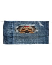 Yorkshire Terrier Blue In Jean Cloth Face Mask Cloth face mask front