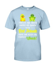Turtles are green ducks go quack Classic T-Shirt tile