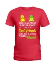 Turtles are green ducks go quack Ladies T-Shirt tile