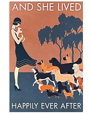 Dog And she lived happily ever after poster 11x17 Poster front
