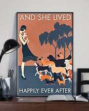 Dog And she lived happily ever after poster 11x17 Poster lifestyle-poster-2