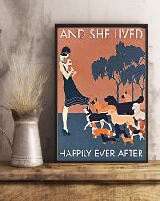 Dog And she lived happily ever after poster 11x17 Poster lifestyle-poster-3