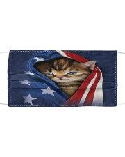 Patriotic Kitten Cat American Flag Cloth Face Mask Cloth face mask front