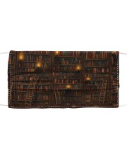 Librarian old books face mask Cloth face mask front