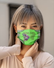 Butterfly june girl they whispered to her facemask Cloth face mask aos-face-mask-lifestyle-18