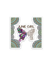 Butterfly june girl they whispered to her facemask Sticker - Single (Horizontal) thumbnail