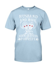 0a3dc69c50 Skull Husband And Wife Riding Partners For Life Classic T-Shirt