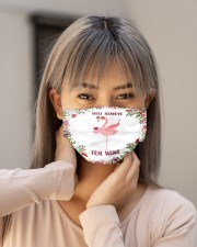Flower Will Remove For Wine Flamingo Face Mask Cloth face mask aos-face-mask-lifestyle-18