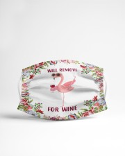 Flower Will Remove For Wine Flamingo Face Mask Cloth face mask aos-face-mask-lifestyle-22