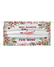 Flower Will Remove For Wine Flamingo Face Mask Cloth face mask front