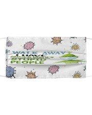 Grinch walk away face mask Cloth face mask front