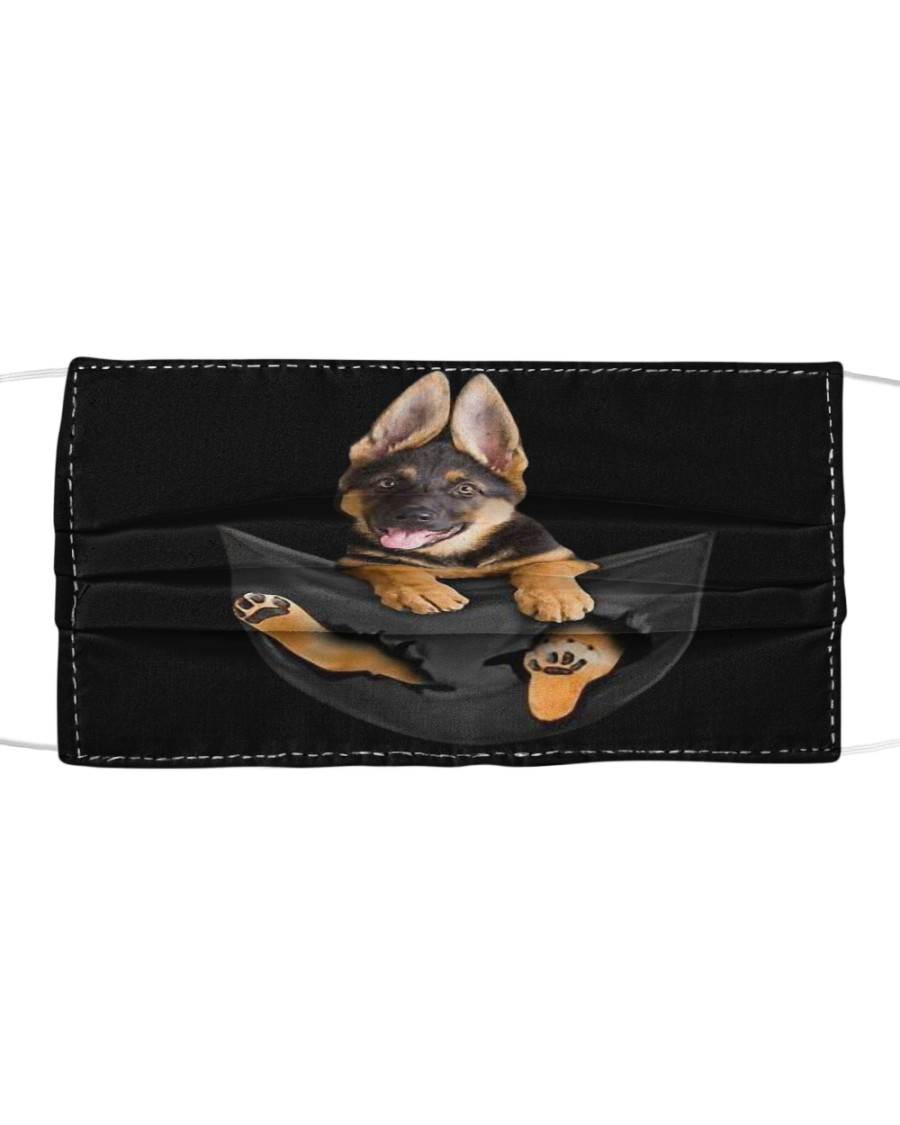 German Shepherd In Pocket Cloth Face Mask Cloth face mask