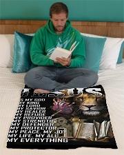 """Fleece Blanket 101219 Small Fleece Blanket - 30"""" x 40"""" aos-coral-fleece-blanket-30x40-lifestyle-front-06"""