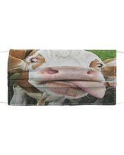 Cow sticking out tongue 3D face mask Cloth face mask front