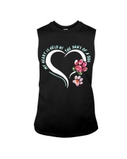 My heart is held by the paws of a dog Sleeveless Tee thumbnail