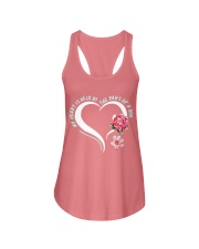My heart is held by the paws of a dog Ladies Flowy Tank thumbnail
