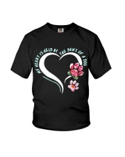 My heart is held by the paws of a dog Youth T-Shirt thumbnail