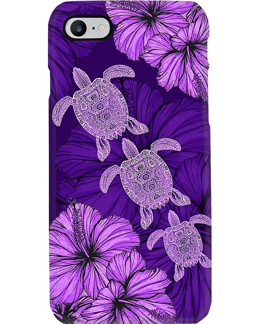 Purple Hibiscus Turtle Phone Case Phone Case