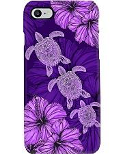 Purple Hibiscus Turtle Phone Case Phone Case i-phone-7-case