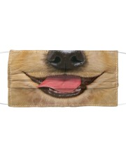 Smiling golden retriever face mask Cloth face mask front