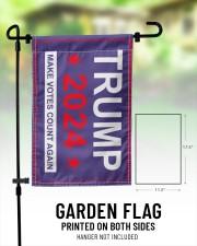 "Trump 2024 make votes count again flag  11.5""x17.5"" Garden Flag aos-garden-flag-11-5-x-17-5-lifestyle-front-01"